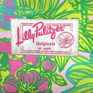 Lilly Pulitzer Tropical Print Tote Beach Bag Purse